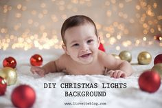 DIY Easy Christmas Lights Background | Photography