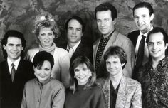 The SNL crew in the late including Dana Carvey, Phil Hartman, Nora Dunn, Kevin Nealon, Jan Hooks and Jon Lovitz (far right). The glory days for SNL! Best Of Snl, Kevin Nealon, Jon Lovitz, Phil Hartman, Snl Cast Members, Las Vegas Entertainment, Dana Carvey, Dennis Miller, Snl Saturday Night Live