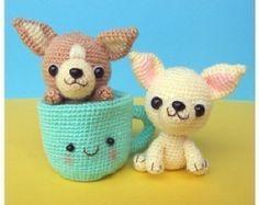 Chihuahua cachorros taza de té patrón de ganchillo PDF por jaravee