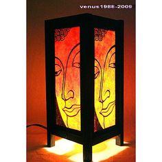 Zen bedside table lamp wood night light lighting Dragon buddha TBM25