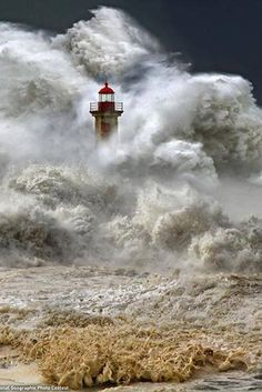 Lighthouse Picture -- Storm Wallpaper -- National Geographic Photo of the Day Lighthouse, Portugal Photograph by Veselin Malinov This Month in Photo of the Day: National Geographic Photo Contest Images A huge ocean storm, Porto, Portugal, January 2013 Stürmische See, Lighthouse Pictures, Stormy Sea, Stormy Waters, Am Meer, National Geographic Photos, Ocean Waves, Big Waves, Giant Waves