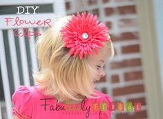 Learn how to make these cute flowers as an alternative to hair bows. Makes a great shower gift or accessory for your little girl!!