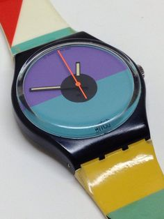 7ab1e665ef8 Vintage Swatch Watch St. Catherine Point GB121 by ThatIsSoFunny Watch  Skins
