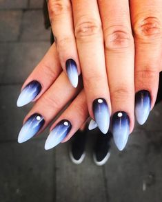 ombre nails ombre acrylic nails glitter nails almond nails spring nail coffin na. - Care - Skin care , beauty ideas and skin care tips White Nail Art, White Nails, Ombre Nail Designs, Nail Art Designs, Nails Design, Gorgeous Nails, Pretty Nails, How To Do Nails, Fun Nails