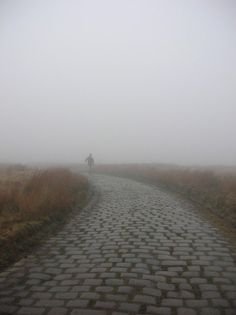 A rather foggy day over Rooley Moor Road, from Rake Head, Stacksteads, Rossendale