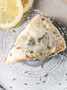 These vegan scones are perfectly sweet and tangy with a subtle lavender flavor and a wonderful texture that isn't too dry. They are the perfect spring scone and would be a lovely addition to your Easter morning breakfast! Healthy Scones, Vegan Scones, Vegan Desserts, Vegan Recipes, Dessert Recipes, Vegan Sweets, Lavender Scones, Lavender And Lemon, Baking Recipes