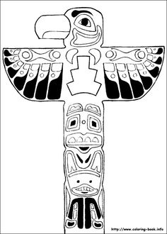 Totem Pole clipart northwest coast indians - pin to your gallery. Explore what was found for the totem pole clipart northwest coast indians Cartoon Coloring Pages, Colouring Pages, Coloring Pages For Kids, Coloring Sheets, Coloring Books, Free Coloring, Indian Crafts, Indian Art, Kids Cartoon Characters