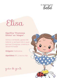 Elisa é um dos nomes que vêm fazendo sucesso entre os papais e mamães. Olha que significado lindo! #gravidez #maternidade #nomesdebebes Cute Baby Names, Baby Girl Names, Cute Babies, Baby Boy, Cute Snowman, My Little Baby, New Trends, Hello Kitty, Crafts For Kids