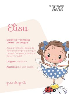 Elisa é um dos nomes que vêm fazendo sucesso entre os papais e mamães. Olha que significado lindo! #gravidez #maternidade #nomesdebebes Cute Baby Names, Baby Girl Names, Cute Babies, Baby E, My Little Baby, Fitness Inspiration Quotes, Body Inspiration, Hiit Workouts For Beginners, Baby Shark