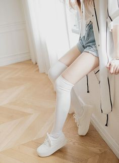 Image via We Heart It https://weheartit.com/entry/143458904 #blouse #body #clothes #cute #delicate #drink #fashion #girl #girly #jeans #kawaii #kfashion #look #outfit #photo #photography #short #sneakers #stocking #style #sweet #tan #tennis #tumblr #ulzzang #vintage #white
