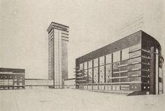 diploma project, palace of labor 1926, S Kozhina