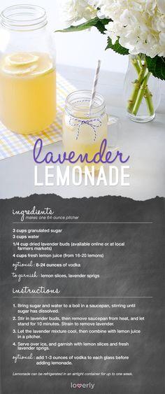 Lavender Lemonade Recipe || Lover.ly - add Van Gogh Blue for a kick