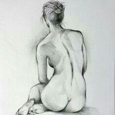 Woman Drawing, Life Drawing, Drawing Women, Gesture Drawing, Pencil Art Drawings, Art Drawings Sketches, Contour Drawings, Charcoal Drawings, Sketch Drawing