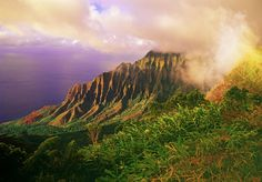 Kalalau Valley, part of the Na Pali Coast from lookout in Kokee.
