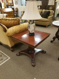 Antique paw foot table is priced at $89
