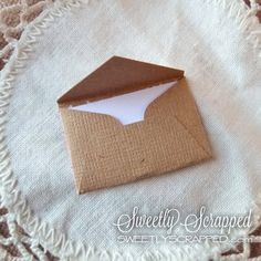 Tiny Kraft Cards Itty Bitty Notes Mini Card by SweetlyScrappedArt, $2.25