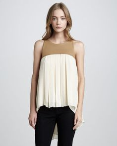 Sachin + Babi - Rosalie Leather Top Tank - $425.00 - Click on the image to shop now