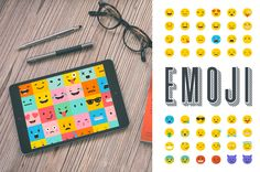 Emoji / emoticons bundle of icons by Marish on @creativemarket