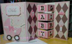 Baby Girl Building Block Card 1