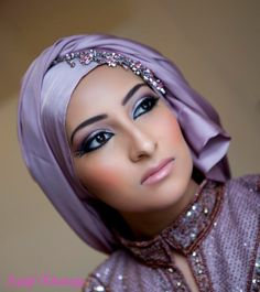 A nice natural look for a Hijaabi Bride