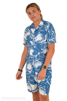 Wicked mens two piece set. Mens hawaiian shirt and matching shorts. Get this ultimate party kit for day at the beach, luau, cruise, rugby, bachelor party, cricket or the pub! #cabana #partykit #sleevelesshawaiians #parrotshirts #partyshirts #leopardshirt #hawaiianshirts #hawaiianshirtandshorts #bucksshirts #bachelorpartyshirts #breakfastshirts