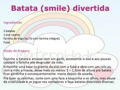 Receita de Batata (smile) divertida