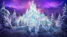 Beautiful Polar bear Fantasy city Fantasy castle