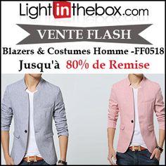 #missbonreduction; Vente Flash : jusqu'à 80 % de remise sur les Blazers & Costumes Homme -FF0518 chez Light in the box.http://www.miss-bon-reduction.fr//details-bon-reduction-Light-in-the-box-i852558-c1832535.html