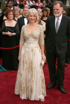This woman ages so Beautifully...Helen Mirren in Christian Lacroix