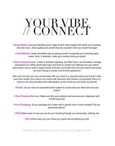 Your Vibe Attracts Your Tribe // Connect Worksheet Download