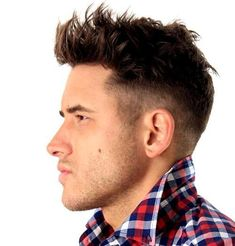 edgy quiff with mid fade