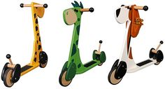 wooden Gepetto scooters | adorable