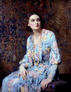 Albert Henry Collings - retrato de una dama