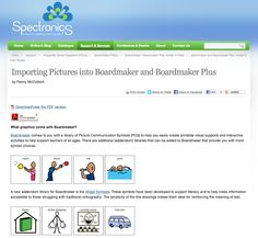Importing Pictures into Boardmaker and Boardmaker Plus by Penny McCulloch