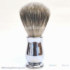 Edwin Jagger Chatsworth Best Badger Shaving Brush Chrome!  #ShavingRazorsandBrushesCases Badger Shaving Brush, Shaving Razor, Edwin Jagger, Chrome
