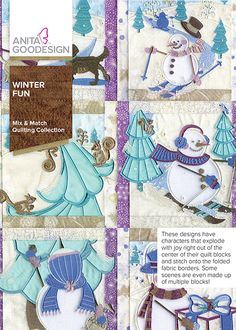 After 12 years in business, we have created a few different snowmen collections, but it has been a few years since the last one. We had the unique idea for Winter Fun and felt that the time was perfect to release it. This collection is full of roly-poly snowmen frolicking in the winter snow. What makes this collection unique are the scenes created with snowmen interacting across multiple blocks. Some of the designs stitch over the folded fabric borders, giving each block incredible…