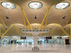 "Madrid Barajas Airport by Rogers Stirk Harbour Madrid, Spain | 2005 "" The terminal, which is the biggest in Spain, was commissioned to enable Barajas International Airport to compete with major hub..."