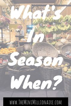 We're always told that adjusting our supermarket buying habits to the season will save us money ( remember the lettuce crisis of February 2017) however, what we're often not told is what's actually in season when... Which is why I've gone ahead and compiled this resource to help you understand what food you should be buying today to save you money!