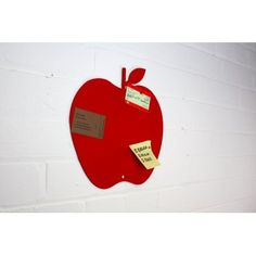 JollySmith Red Apple Magnetic Notice Board