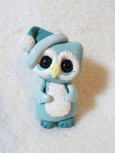OWL owl Christmas ornament cake topper personalized by clayqts, $18.95