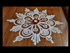 Beautiful free hand rangoli designs by Shital Daga , easy rangoli designs with funnel Rangoli Designs Latest, Simple Rangoli Designs Images, Rangoli Designs Flower, Rangoli Border Designs, Rangoli Patterns, Rangoli Ideas, Rangoli Designs Diwali, Rangoli Designs With Dots, Flower Rangoli