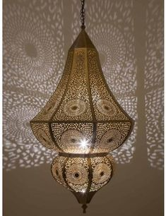 antique style moroccan hanging lamp pendant light golden metal rh pinterest com