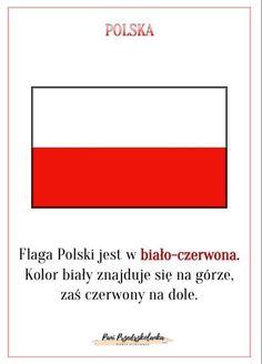 Poland Flag, Polish Language, Kids And Parenting, Kindergarten, Teaching, Education, School, Geography, Maps