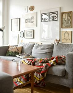 Love and Whimsy: Gray Sofas