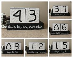 Want to get the children excited for the upcoming Ramadan fasting season? Use these wood blocks set to countdown for Ramadan and Eid. The set can