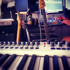 """Laying down piano for a song demo """"Lord's Prayer"""" which I just wrote."""