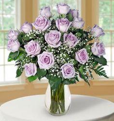 Lavender Long-Stem Roses $74.95