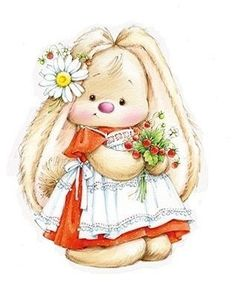 Baby Animals Clipart Easter Bunny Ideas For 2019 – Ionela Costea – Baby Anim… – Autolycus Wayman - Baby Animals Tatty Teddy, Illustration Mignonne, Cute Illustration, Plant Illustration, Cute Images, Cute Pictures, Beautiful Pictures, Vintage Clipart, Animal Illustrations