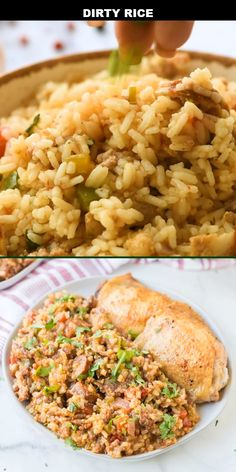 Dirty Rice - Spaceships and Laser Beams White Rice Recipes, Rice Recipes For Dinner, Side Dish Recipes, Baby Food Recipes, Cooking Recipes, Recipes Using Rice, Seasoned Rice Recipes, Rice Side Dishes, Food Dishes