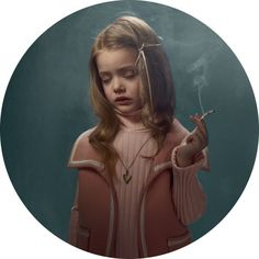 "Belgian photographer Frieke Janssens is known for her subtly startling work, making her in demand commercially. However, in her personal work it could be argued she seems to shine brightest. In her provocative series ""Smoking Kids"", Janssens' imagery weaves itself around the line between being slightly discomfiting, to darkly humorous, then back to disconcerting again"
